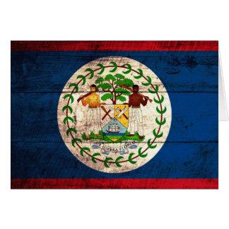Bandera de madera vieja de Belice Tarjeta Pequeña