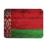 Bandera de madera vieja de Bielorrusia Imanes Flexibles