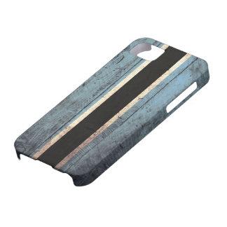 Bandera de madera vieja de Botswana iPhone 5 Carcasas