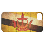 Bandera de madera vieja de Brunei iPhone 5 Protector