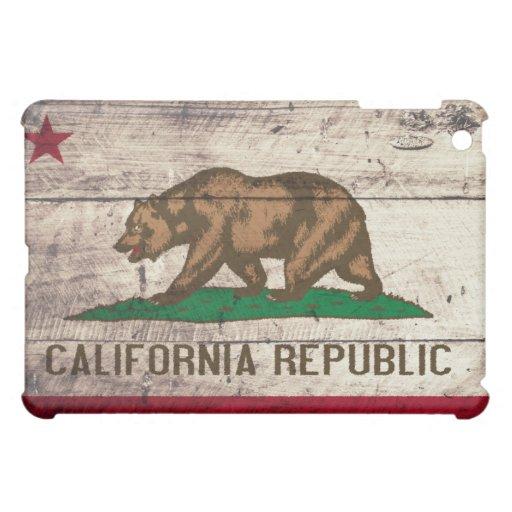 Bandera de madera vieja de California