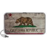 Bandera de madera vieja de California Notebook Altavoz