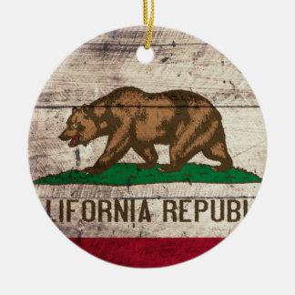 Bandera de madera vieja de California Adornos