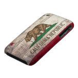 Bandera de madera vieja de California iPhone 3 Case-Mate Carcasa