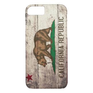 Bandera de madera vieja de California Funda iPhone 7