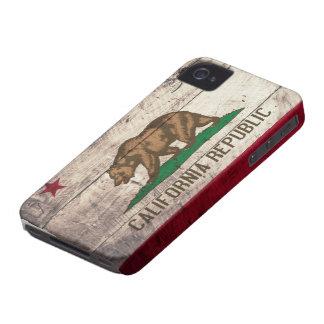Bandera de madera vieja de California iPhone 4 Cárcasa
