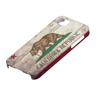 Bandera de madera vieja de California iPhone 5 Carcasas