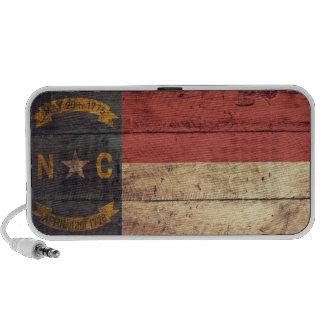 Bandera de madera vieja de Carolina del Norte; Laptop Altavoces