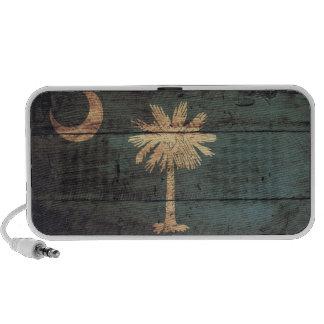 Bandera de madera vieja de Carolina del Sur; iPod Altavoces