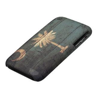 Bandera de madera vieja de Carolina del Sur; Case-Mate iPhone 3 Cárcasas