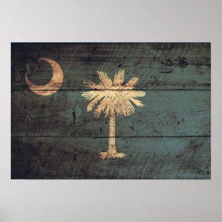 Bandera de madera vieja de Carolina del Sur; Impresiones