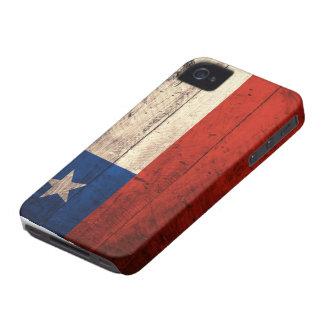 Bandera de madera vieja de Chile Case-Mate iPhone 4 Funda