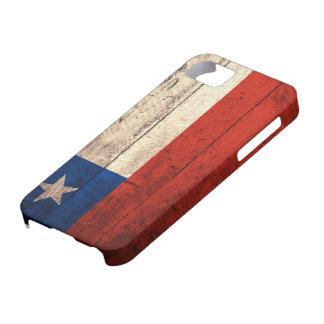 Bandera de madera vieja de Chile iPhone 5 Fundas