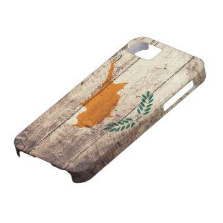 Bandera de madera vieja de Chipre iPhone 5 Carcasas