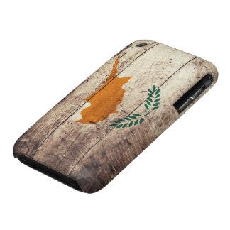 Bandera de madera vieja de Chipre iPhone 3 Case-Mate Protectores