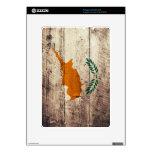 Bandera de madera vieja de Chipre; Calcomanía Para El Kindle DX