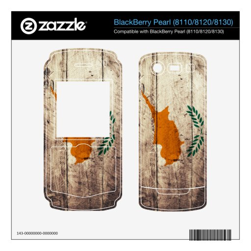 Bandera de madera vieja de Chipre; Skins Para BlackBerry