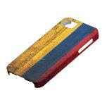 Bandera de madera vieja de Colombia iPhone 5 Cárcasa