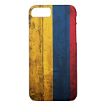 Bandera de madera vieja de Colombia Funda iPhone 7
