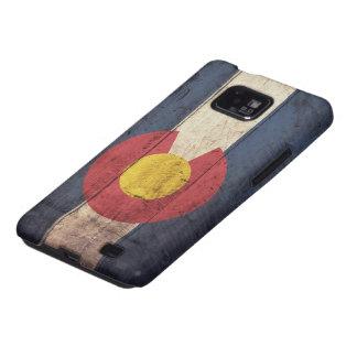 Bandera de madera vieja de Colorado Samsung Galaxy SII Carcasas