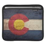 Bandera de madera vieja de Colorado Funda Para iPads