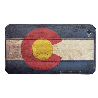 Bandera de madera vieja de Colorado iPod Touch Coberturas