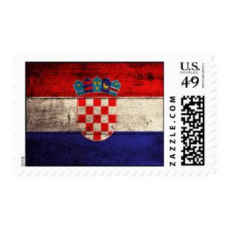 Bandera de madera vieja de Croacia Sello