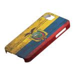 Bandera de madera vieja de Ecuador iPhone 5 Funda