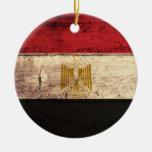 Bandera de madera vieja de Egipto Ornamentos De Reyes