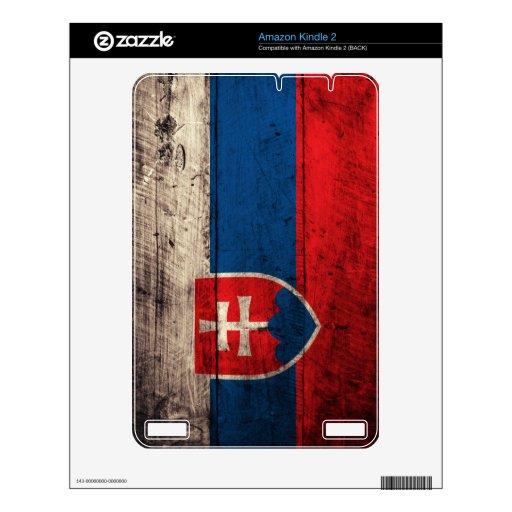 Bandera de madera vieja de Eslovaquia; Kindle Skin