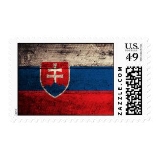 Bandera de madera vieja de Eslovaquia Sellos