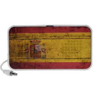 Bandera de madera vieja de España Portátil Altavoz