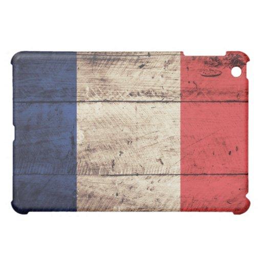 Bandera de madera vieja de Francia