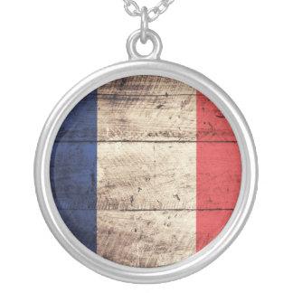 Bandera de madera vieja de Francia Colgante Redondo