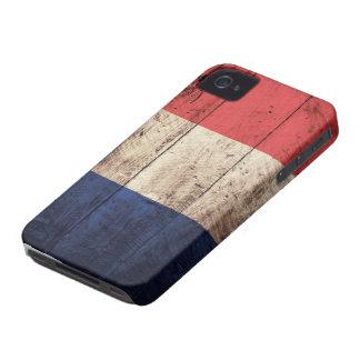 Bandera de madera vieja de Francia iPhone 4 Coberturas