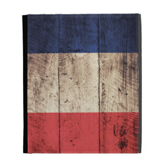 Bandera de madera vieja de Francia;