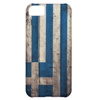 Bandera de madera vieja de Grecia