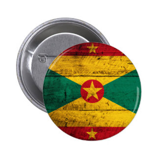 Bandera de madera vieja de Grenada Pin