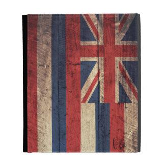 Bandera de madera vieja de Hawaii;