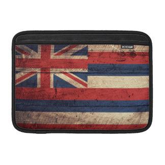 Bandera de madera vieja de Hawaii; Fundas Macbook Air