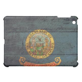 Bandera de madera vieja de Idaho;