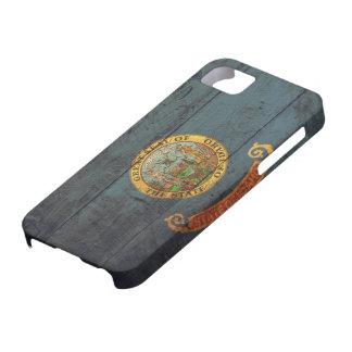Bandera de madera vieja de Idaho; Funda Para iPhone SE/5/5s