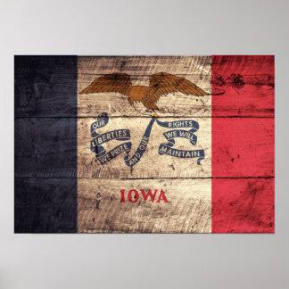 Bandera de madera vieja de Iowa; Impresiones