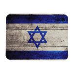 Bandera de madera vieja de Israel Imanes De Vinilo