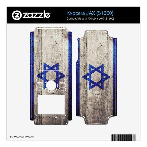 Bandera de madera vieja de Israel; Skins Para Kyocera JAX