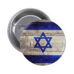 Bandera de madera vieja de Israel Pins