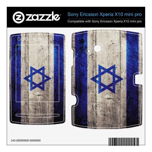 Bandera de madera vieja de Israel; Xperia X10 Skin