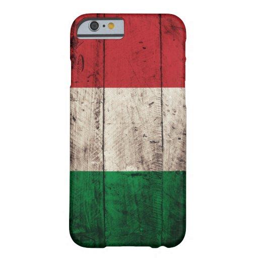 Bandera de madera vieja de Italia Funda De iPhone 6 Barely There