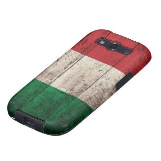 Bandera de madera vieja de Italia Galaxy S3 Coberturas