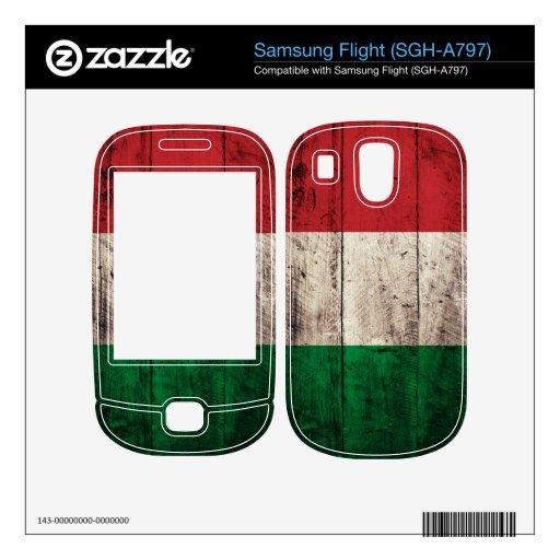 Bandera de madera vieja de Italia; Itali Calcomanía Para Samsung Flight